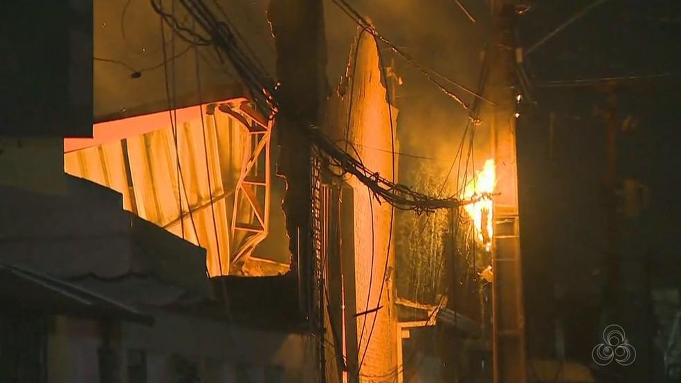 Energisa foi acionada para cortar energia no local — Foto: Reprodução/Rede Amazônica