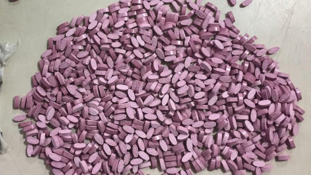 Imagem de comprimidos de ecstasy que foram apreendidos em Vitória — Foto: Divulgação/ Polícia Militar