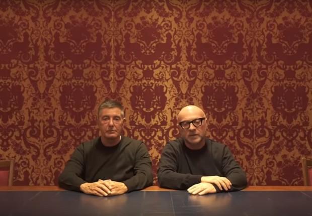 Domenico Dolce e Stefano Gabbana, fundadores da famosa grife de moda (Foto: reprodução/youtube)