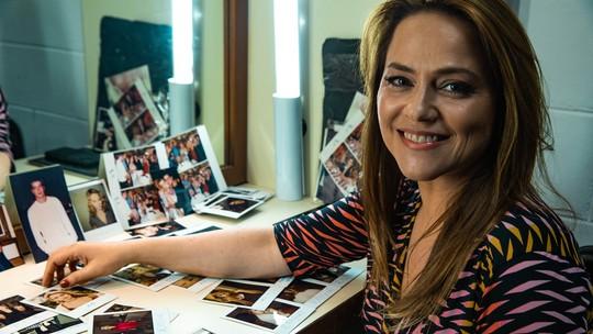 Vivianne Pasmanter recorda bastidores de 'Por Amor' em fotos antigas