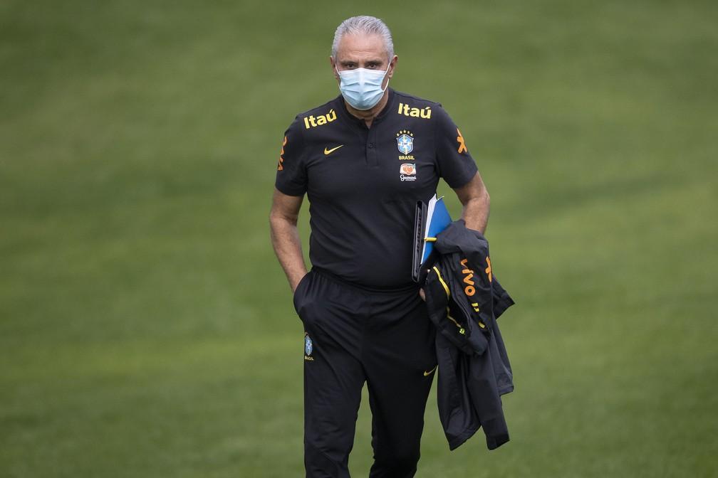 Tite treino seleção brasileira — Foto: Lucas Figueiredo/CBF