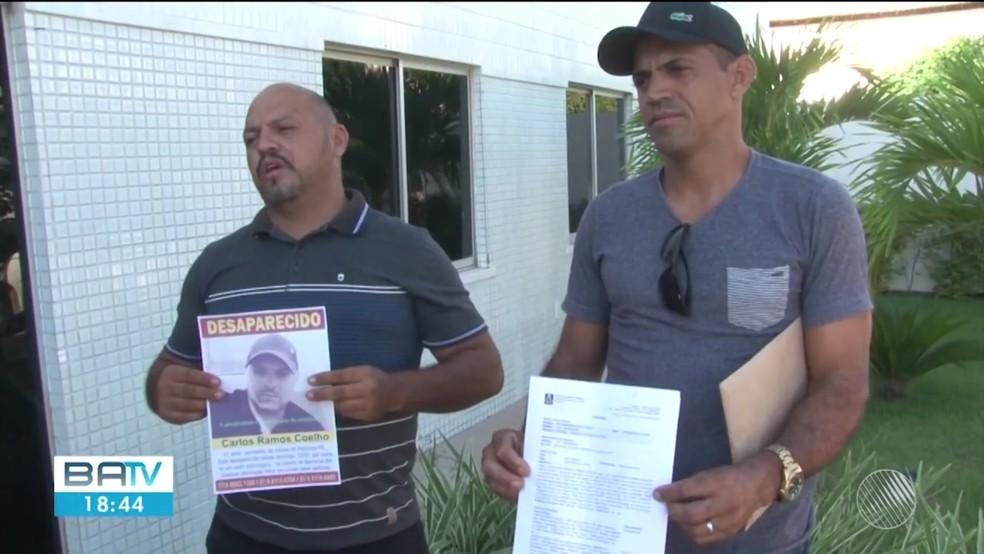 Parentes buscam por caminhoneiro que desapareceu em Barreiras — Foto: Reprodução/TV Oeste