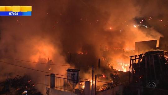 Incêndio destrói loja de autopeças em Novo Hamburgo