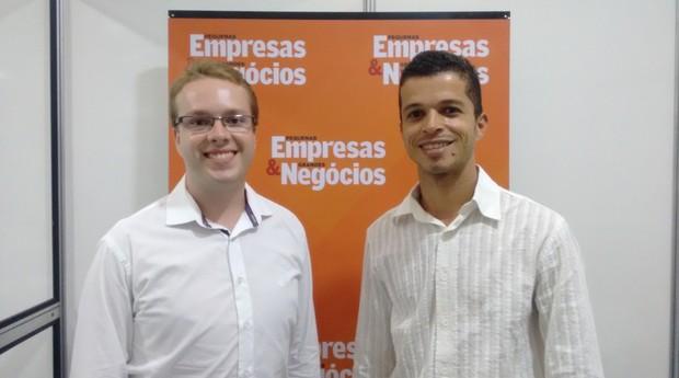 Renan Padovani e Enivaldo Amaral, sócio-fundadores da Autaza (Foto: Rennan A. Julio / Editora Globo)