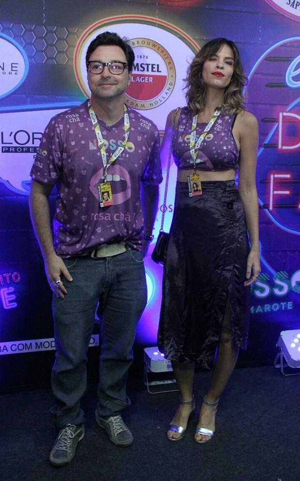 Emílio Orciollo Netto e a mulher, Mariana Barreto (Foto: Agnews)