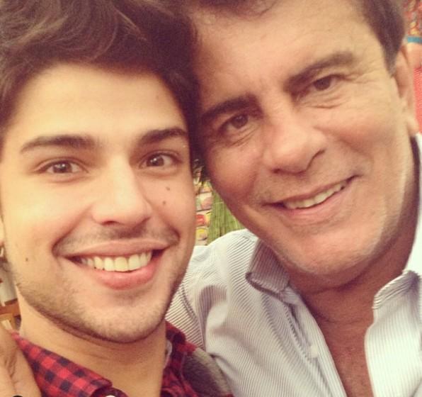 Diego Montez e o pai, Wagner Montes (Foto: Reprodução/ Instagram)