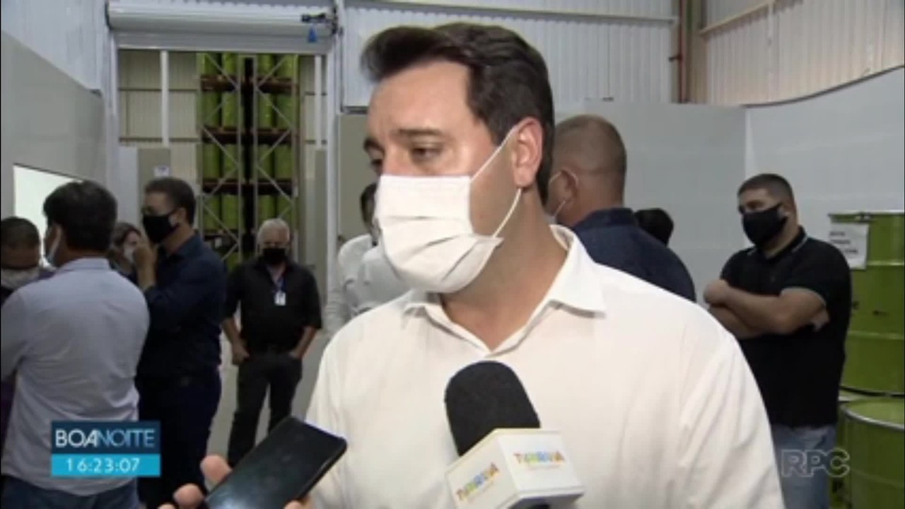 Ratinho Júnior (PSD) comenta sobre chegada das doses da vacina contra a Covid-19 no Paraná