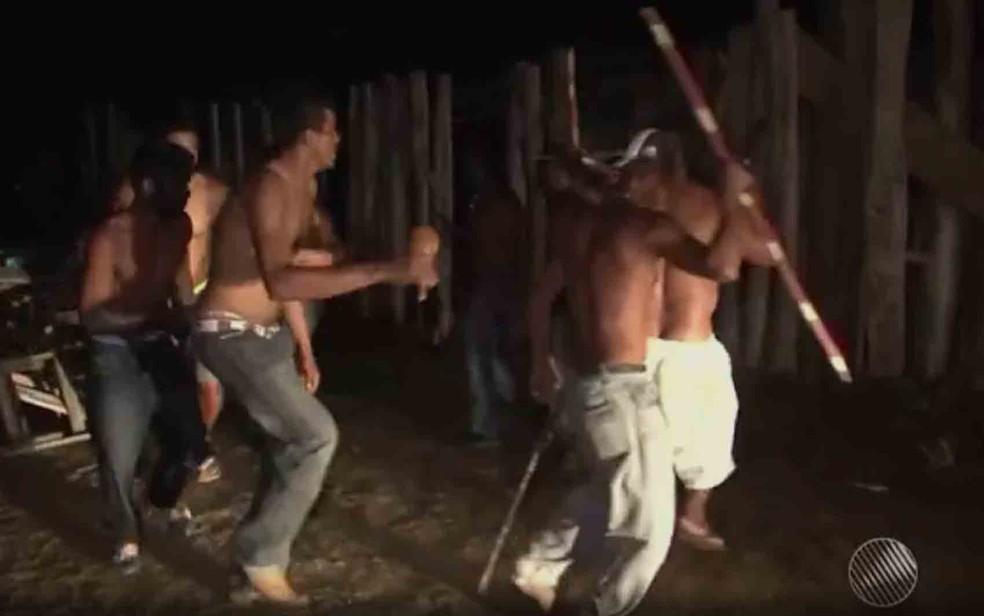 Fazenda em Itapetinga foi ocupada por indígenas no dia 23 de setembro (Foto: Reprodução/ TV Santa Cruz)