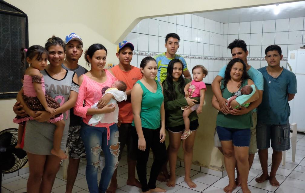 Família de venezuelanos que vivem em Boa Vista, Roraima (Foto: Inaê Brandão/G1 RR)