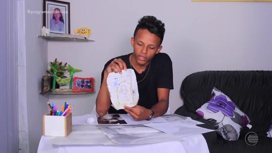 Samuel Nascimento mostra talento no desenho e comenta projeto futuro