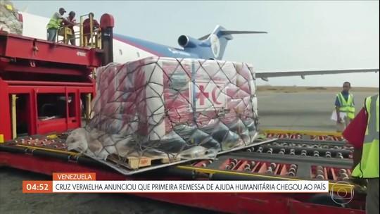 Cruz Vermelha anuncia que primeira remessa de ajuda humanitária chegou na Venezuela