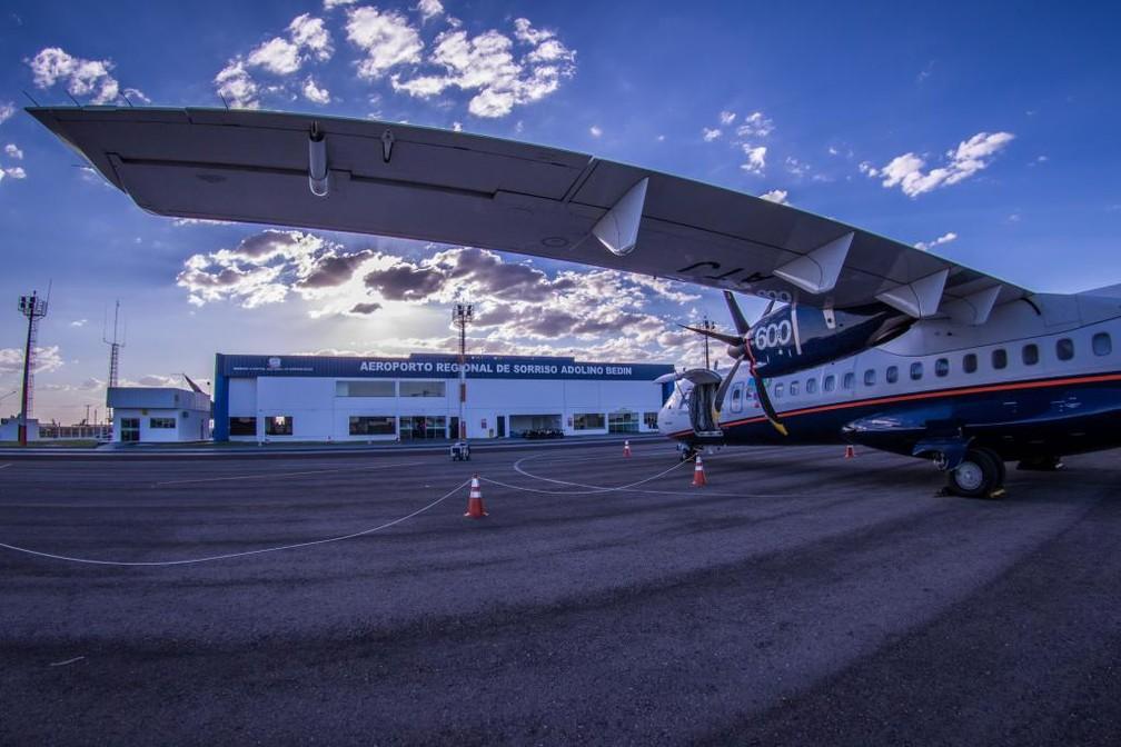 Azul volta a operar voos comerciais no Aeroporto de Sorriso (MT) após suspensão por falhas na pista de pouso