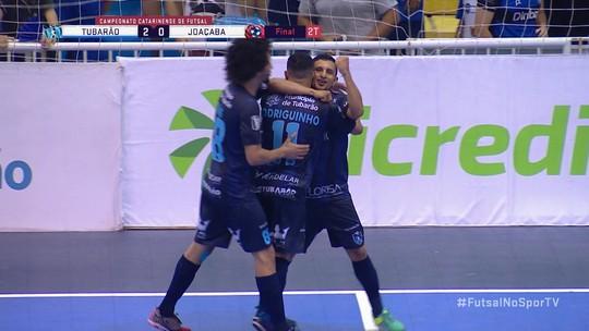 Os gols de Tubarão 4 x 2 Joaçaba pela final do Campeonato Catarinense de Futsal