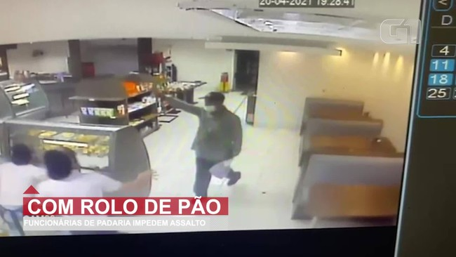 Funcionárias impedem assalto à panificadora usando rolo de pão, em Curitiba