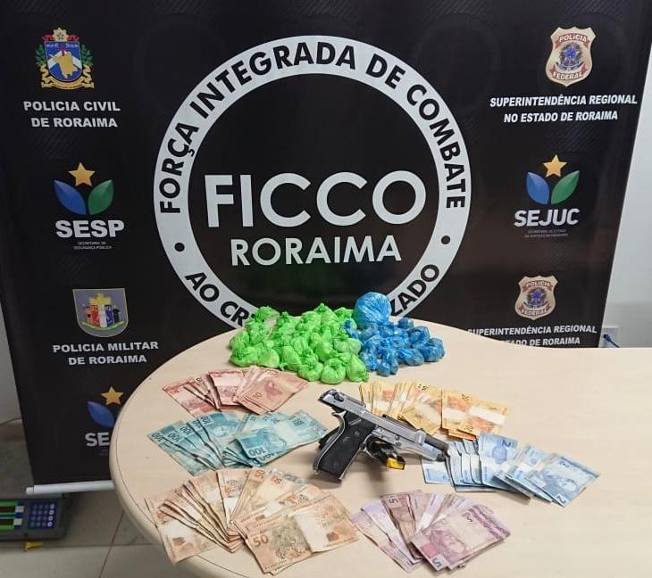 Membro de facção é preso com arma, cocaína e R$ 8 mil em Boa Vista - Notícias - Plantão Diário