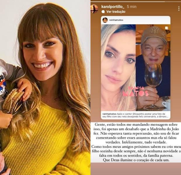 Karol Portillo, ex de Pedro Pecci e mãe do filho dele, se pronuncia (Foto: Reprodução/Instagram)