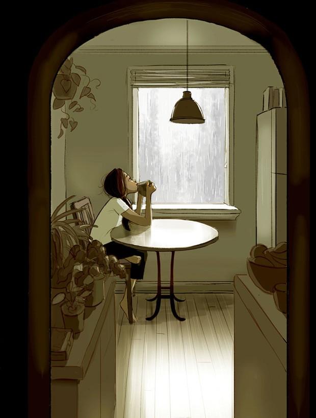 Ilustração de Yaoyao Ma Van As sobre as delícias de morar sozinha (Foto: Yaoyao Ma Van As / Reprodução)
