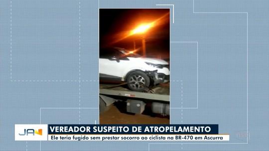 Vereador de Ascurra é investigado por acidente com atropelamento de ciclista de 16 anos na BR-470