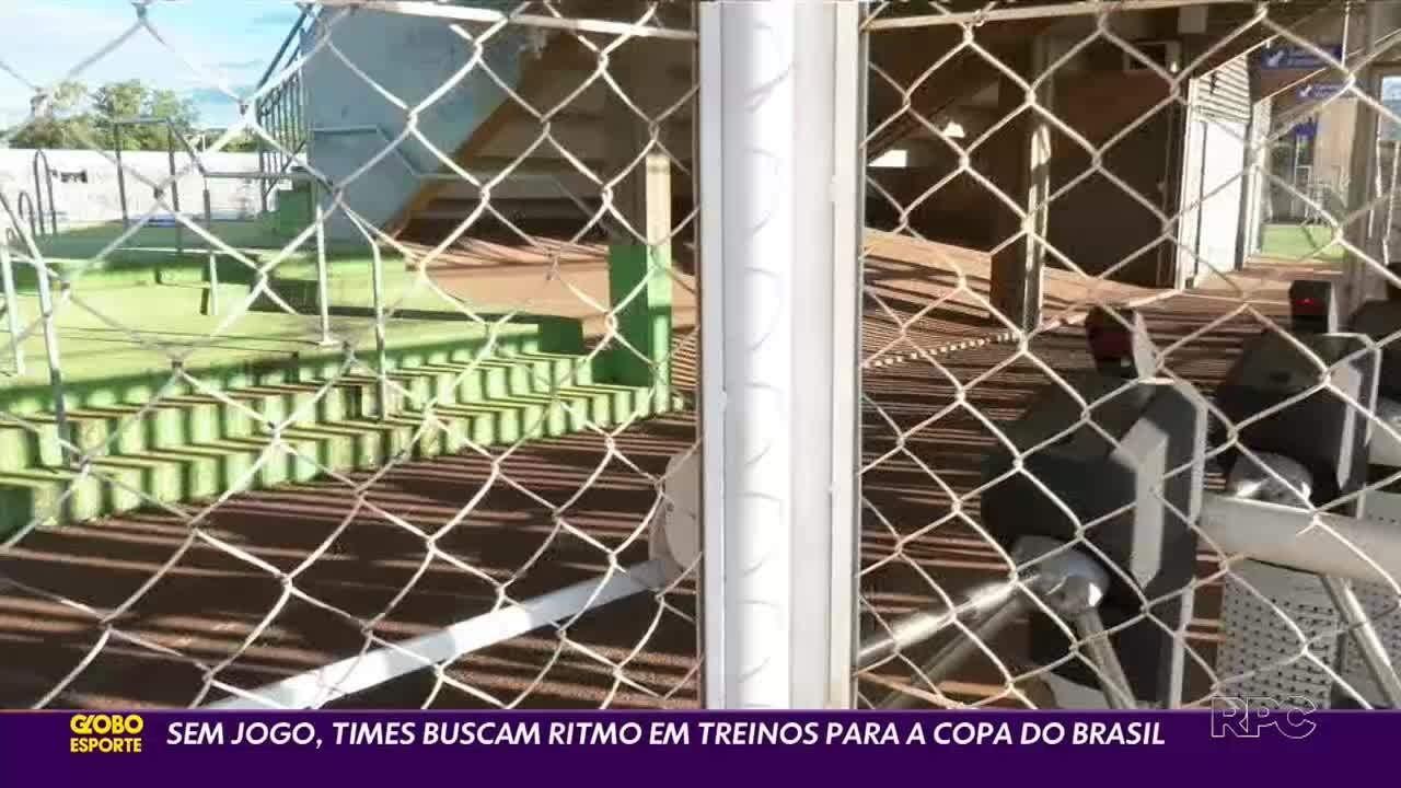 Sem jogos no Paranaense, clubes miram a Copa do Brasil