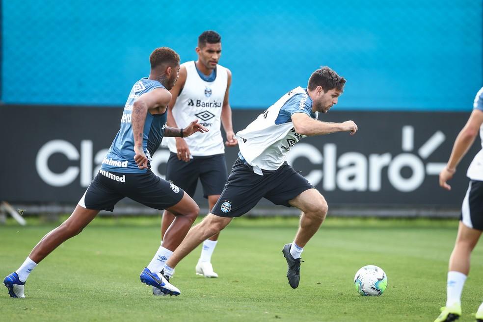 Kannemann e Jean Pyerre são as dúvidas do Grêmio — Foto: Lucas Uebel/DVG/Grêmio