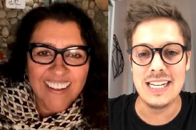 Regina Casé e Fabio Porchat via Instagram (Foto: Reprodução)
