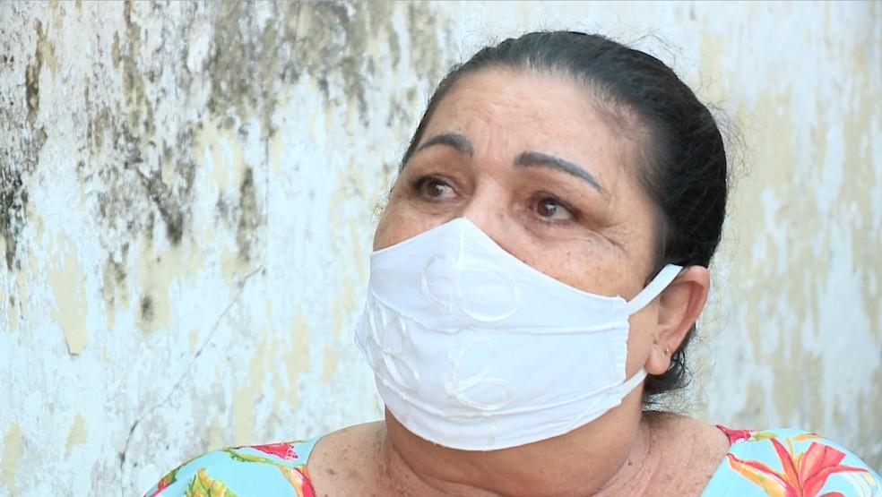 Lúcia Mendes, mãe do garoto Elber  — Foto: Reprodução/TV Clube
