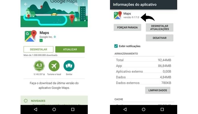 Versão 9.17 do Google Maps será liberada gradualmente (Foto: Reprodução/Raquel Freire)