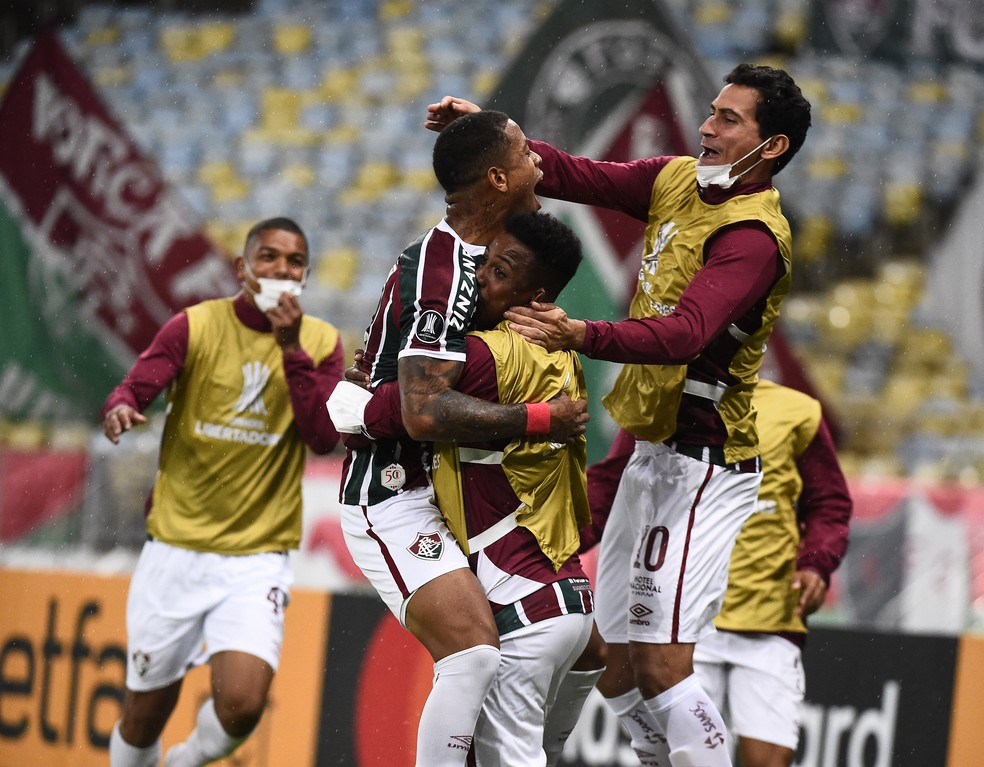 Caio Paulista - Fluminense x Santa Fe - Libertadores 2021 — Foto: André Durão