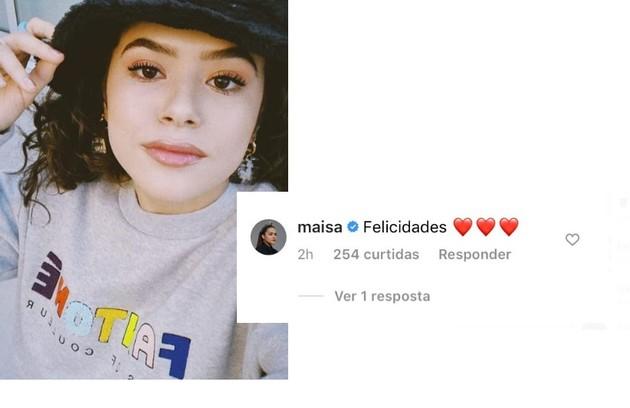 Maisa Silva deixou seus votos de felicidade (Foto: Reprodução)