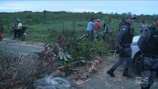 Moradores interditam MA-204 no Maranhão