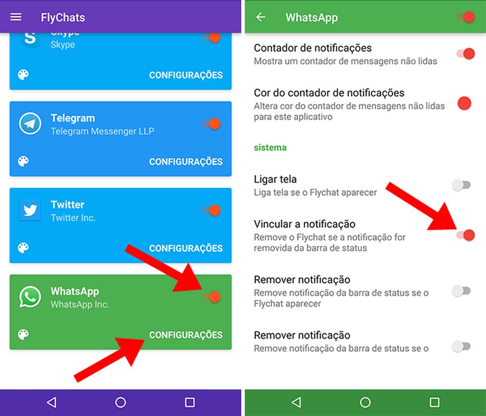 Habilite as notificações vinculadas no Flychat (Foto: Reprodução/Paulo Alves)