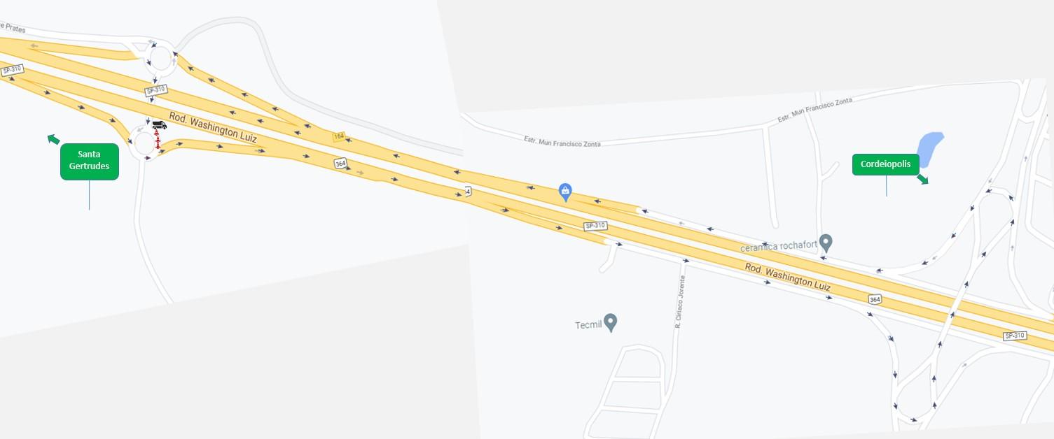 Parte de retorno em rodovia de Cordeirópolis é fechado para melhorias em pavimento