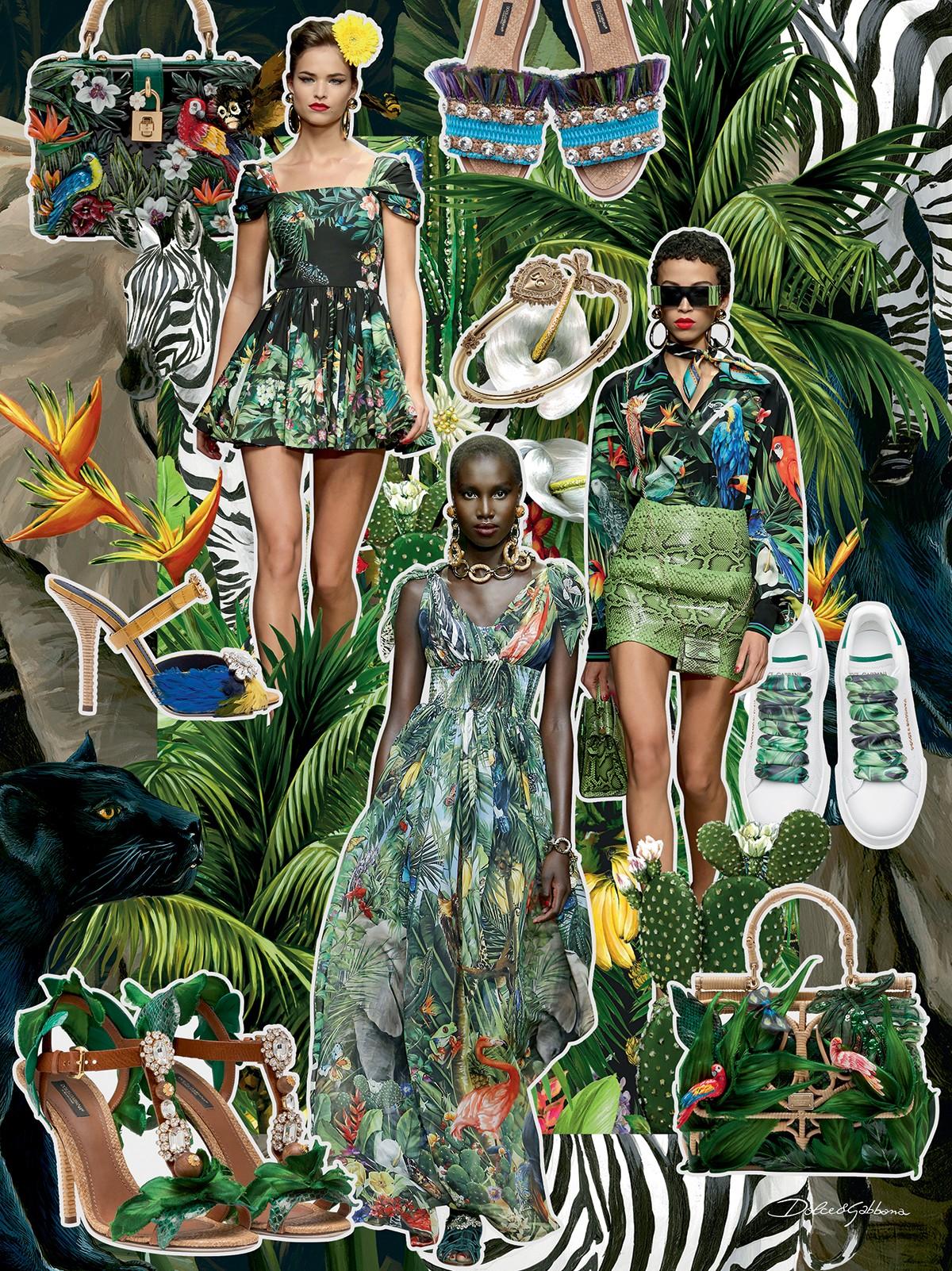 Dolce & Gabbana - A herança italiana se mistura com motivos tropicais em inspiração do verão 2020 da grife (Foto: Cortesia Dolce & Gabbana)