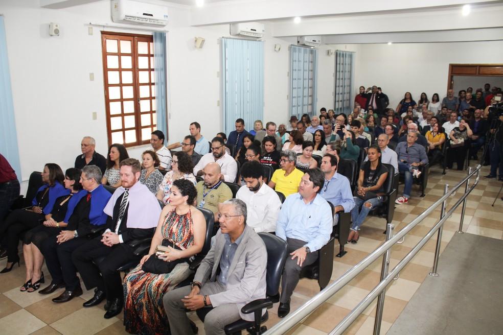 Cerimônia aconteceu no prédio da Unir Centro, em Porto Velho.  — Foto: Anael Francis/ Unir