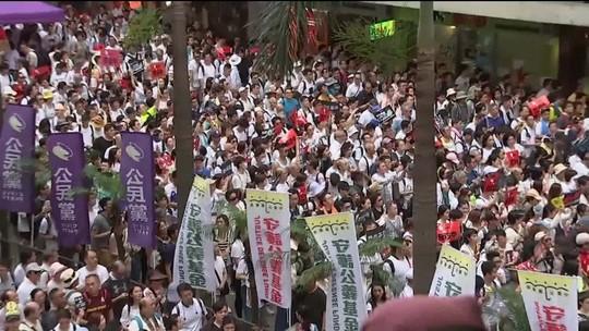 China culpa forças estrangeiras por protesto em Hong Kong