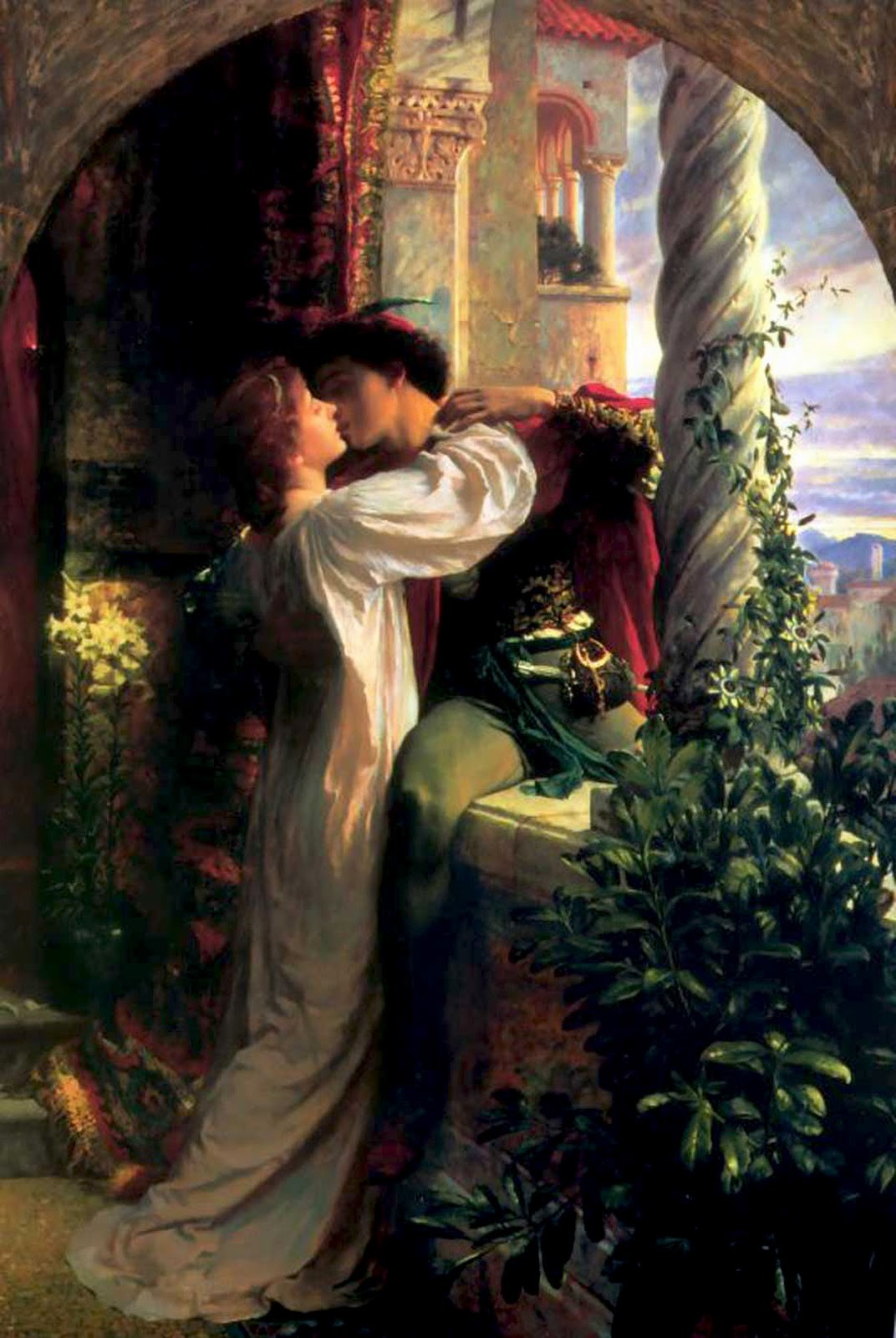 "Pintura ""Romeu e Julieta"", de Frank Dicksee, do ano de 1884. (Foto: Wikipedia Commons)"