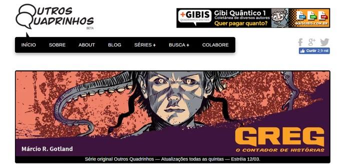 Para os fãs de HQs, site Outros Quadrinhos traz histórias de autores nacionais e internacionais (Foto: Reprodução/Outros Quadrinhos)