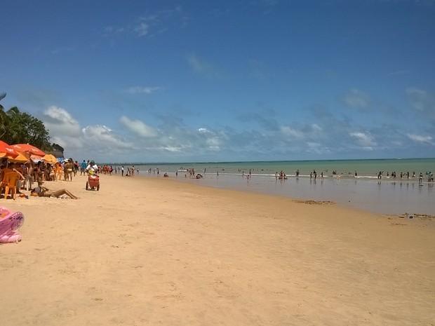 Praia do Seixas, em João Pessoa (Foto: Aline Oliveira/G1 PB)