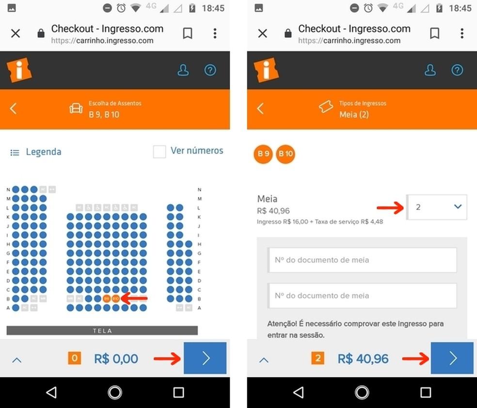Compre ingresso de cinema com o app do Google para Android — Foto: Reprodução/Raquel Freire