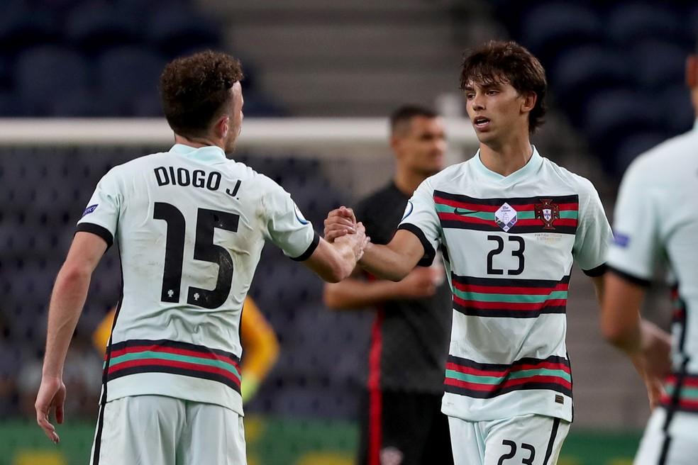 João Félix e Diogo Jota são mais dois estreantes em Euro — Foto: Getty Images