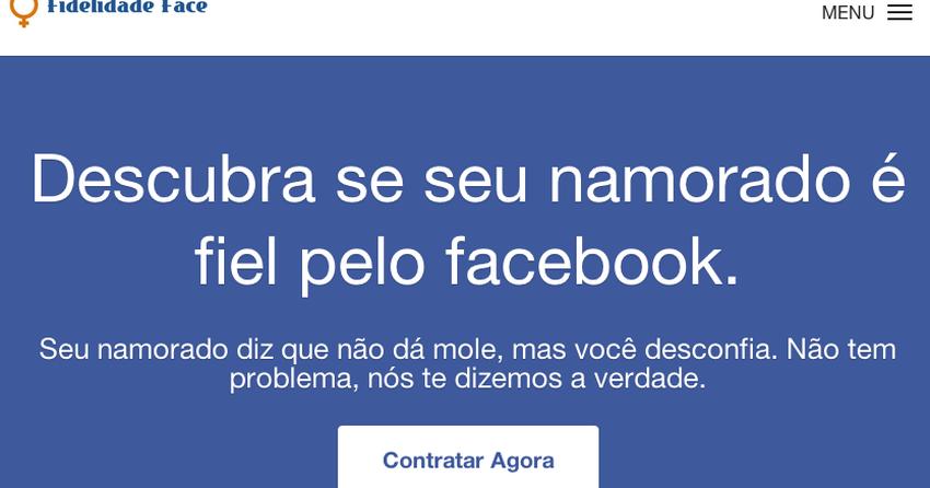 Site oferece serviço de 'teste de fidelidade' pelo Facebook