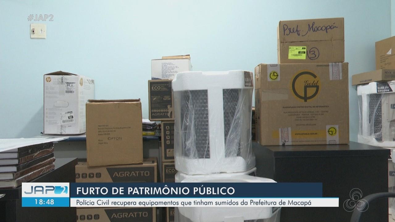 Polícia Civil recupera equipamentos que foram furtados da Prefeitura de Macapá em 2020