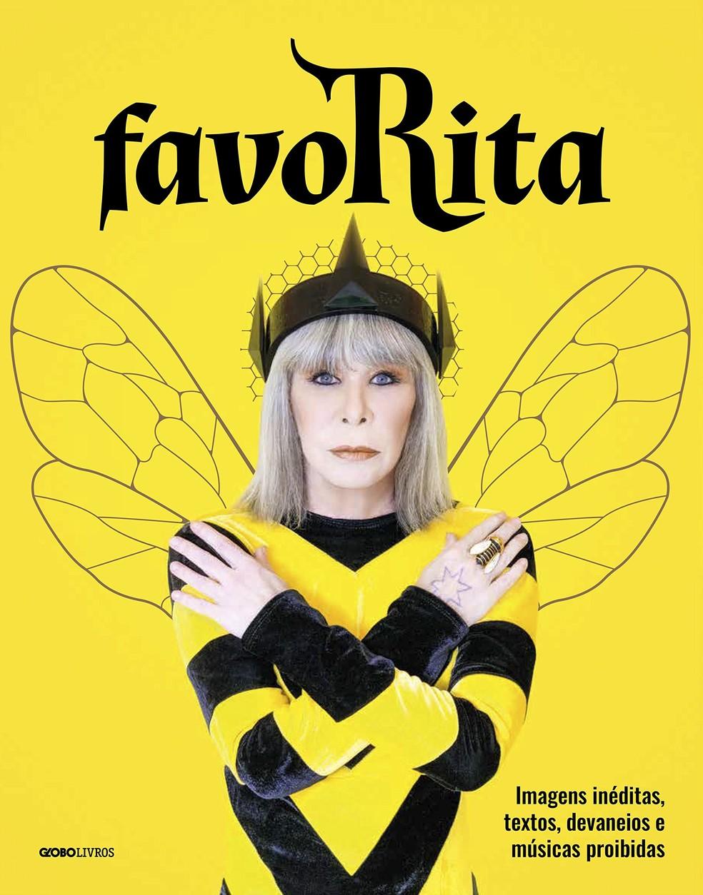 Capa do livro 'favoRita', de Rita Lee (Foto: Divulgação Globo Livros / Guilherme Samora)