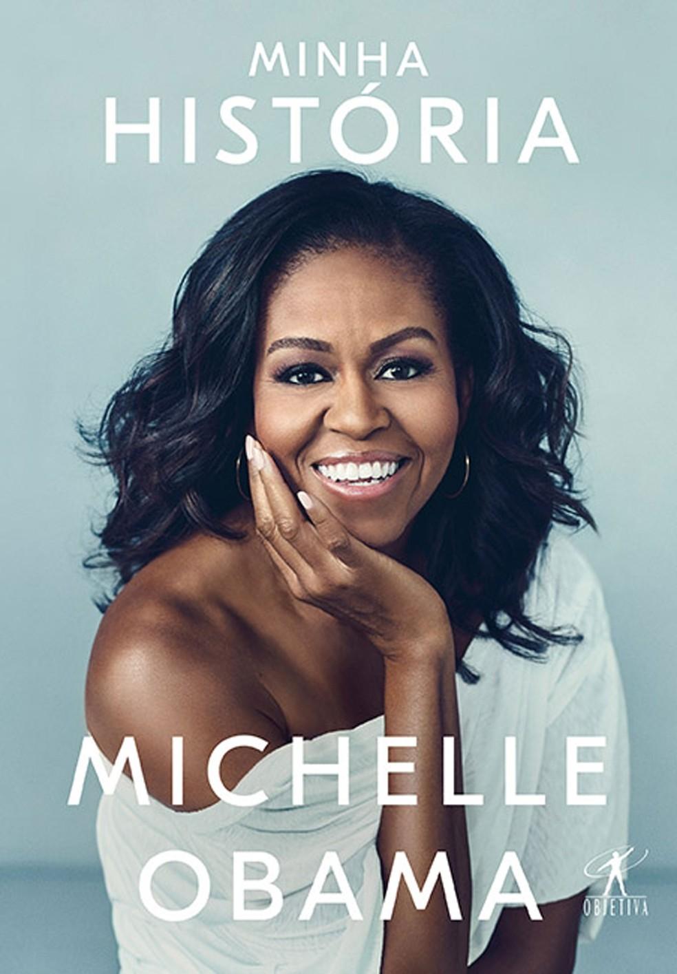 Capa do livro 'Minha história', autobiografia de Michelle Obama, ex-primeira-dama dos Estados Unidos — Foto: Divulgação/Objetiva