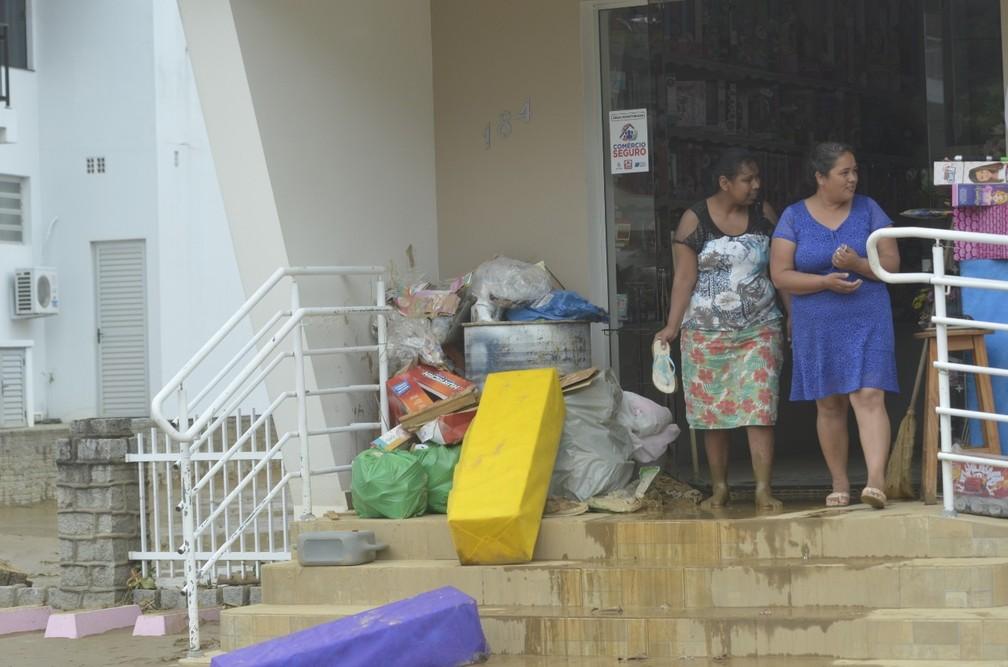 A cidade de Presidente Getúlio foi a mais atingida durante o temporal — Foto: Maurício Cattani/NSC TV