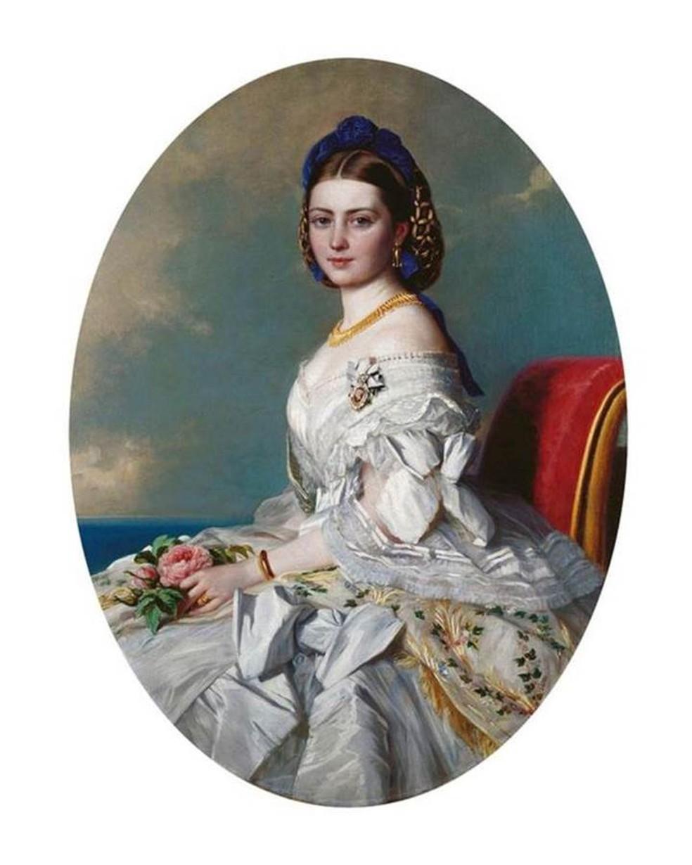 A filha da Rainha Vitória, Vicky, que aparece aqui em um retrato de 1863, é tema do romance de Clare McHugh — Foto: Alamy via BBC