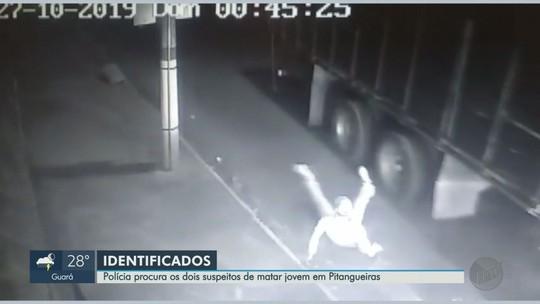 Polícia divulga fotos de suspeitos de matar jovem para roubar caminhonete em Pitangueiras, SP