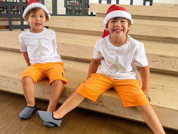 Samuel e Gabriel, filhos de Andressa Suita e Gusttavo Lima (Foto: Reprodução/Instagram)