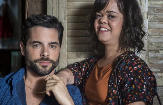 'O outro lado do paraíso': Amaro (Pedro Carvalho) e Estela (Juliana Caldas) (Foto: Globo/Estevam Avellar)