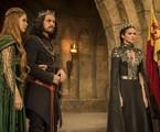 Marina Ruy Barbosa, Romulo Estrela e Bruna Marquezine em cena de 'Deus salve o rei' | Rede Globo / Maurício Fidalgo